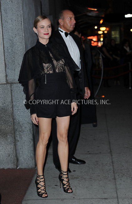 WWW.ACEPIXS.COM<br /> October 22, 2015 New York City<br /> <br /> Diane Kruger arriving to attend the 2015 Fashion Group International's Night Of Stars at Cipriani Wall Street on October 22, 2015 in New York City.<br /> <br /> Credit: Kristin Callahan/ACE<br /> Tel: (646) 769 0430<br /> e-mail: info@acepixs.com<br /> web: http://www.acepixs.com