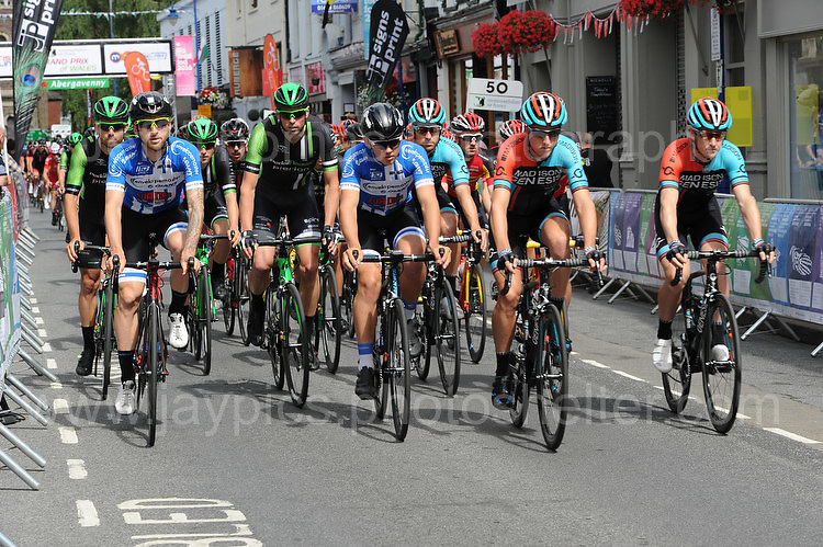 """The start of the race during the Abergavenny Festival of Cycling """"Grand Prix of Wales"""" race on Sunday 17th 2016<br /> <br /> <br /> Jeff Thomas Photography -  www.jaypics.photoshelter.com - <br /> e-mail swansea1001@hotmail.co.uk -<br /> Mob: 07837 386244 -"""
