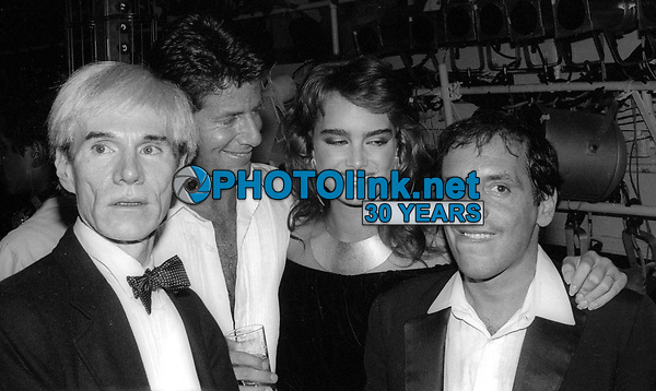 Andy Warhol Calvin Klein Brooke Shields Steve Rubell at Studio 54 1981<br /> Photo By Adam Scull/PHOTOlink.net