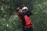 Sebastian Heisele (GER) on the 7th tee during Round 4 of the Challenge Tour Grand Final 2019 at Club de Golf Alcanada, Port d'Alcúdia, Mallorca, Spain on Sunday 10th November 2019.<br /> Picture:  Thos Caffrey / Golffile<br /> <br /> All photo usage must carry mandatory copyright credit (© Golffile | Thos Caffrey)
