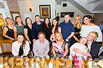 Carmel Conway from Oakpark,Tralee celebrating her 50th birthday with friends and family on Saturday in Bella Bia's.Front l-r Nicole Moriarty, Michael Crean, Carmel Conway, Abbey Conway and Tara McCarthy.Back l-r Phil O'Mahony, Mary Ellen Hurley, Georgina Egan, Joseph Conway, Marian Egan, Sadhbh Egan, Alan Conway, Kayleigh Alice and Amy Conway