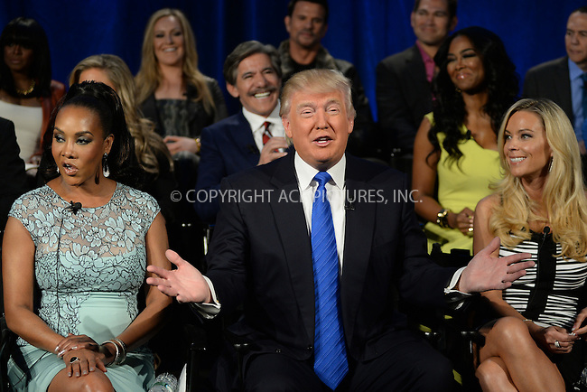 WWW.ACEPIXS.COM <br /> March 20, 2014 New York City<br /> <br /> Vivica A. Fox, Donald Trump and Kate Gosselin attending the press junket for 'The Celebrity Apprentice' Season 14 at Chelsea Piers on March 20, 2014 in New York City.<br /> <br /> Please byline: Kristin Callahan  <br /> <br /> ACEPIXS.COM<br /> Ace Pictures, Inc<br /> tel: (212) 243 8787 or (646) 769 0430<br /> e-mail: info@acepixs.com<br /> web: http://www.acepixs.com