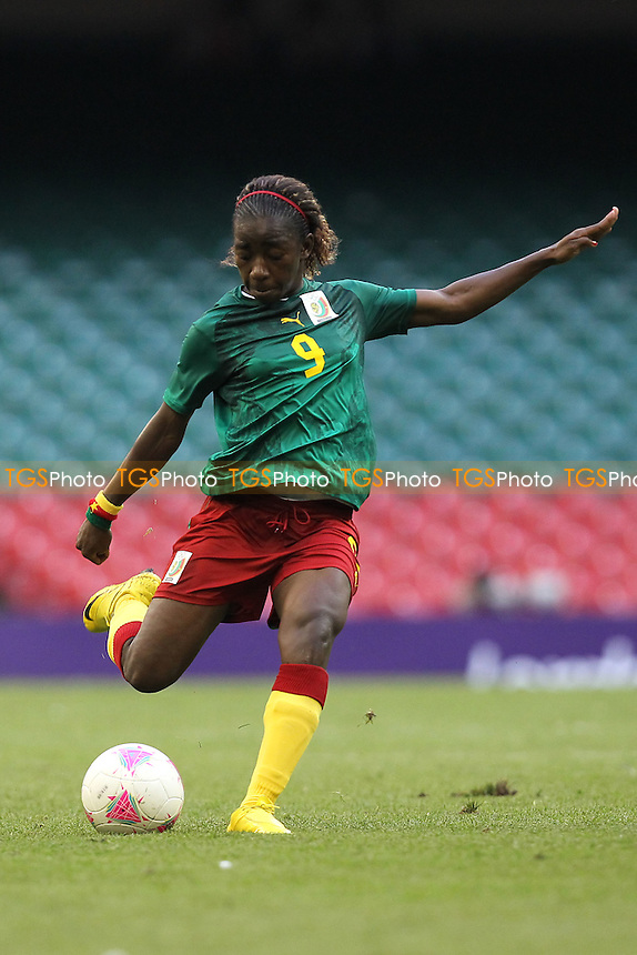 Madeleine NGONO MANI of Cameroon - Brazil Women vs Cameroon Women - Womens Olympic Football Tournament London 2012 Group E at the Millenium Stadium, Cardiff, Wales - 25/07/12 - MANDATORY CREDIT: Gavin Ellis/SHEKICKS/TGSPHOTO - Self billing applies where appropriate - 0845 094 6026 - contact@tgsphoto.co.uk - NO UNPAID USE.