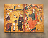 Gothic Panel from the tomb of the Knight Sancho Sanchez Carillo . Polychrome and gold leaf on wood by the Circle of Gil de Siloe around 1500, probably from Castella. Inv MNAC 64028. National Museum of Catalan Art (MNAC), Barcelona, Spain