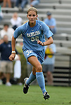 18 September 2009: North Carolina's Kristi Eveland. The University of North Carolina Tar Heels defeated the Louisiana State University Tigers 1-0 at Koskinen Stadium in Durham, North Carolina in an NCAA Division I Women's college soccer game.