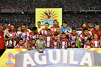 BARRANQUILLA -COLOMBIA ,20-07-2017.  Formación  del Atlético Junior contra el América de Cali durante encuentro  por la fecha 3 de la Liga Aguila II 2017 disputado en el estadio Metropolitano Roberto Meléndez de Barranquilla/ Team  of Atletico Junior agaisnt  of America of Cali   during match for the date 3 of the Aguila League II 2017 played at Metropolitano Roberto Melendez in Barranquilla . Photo:VizzorImage / Alfonso Cervantes  / Cont