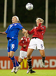 Women's EURO 2009 in Finland.Iceland-Norway, 08272009, Lahti