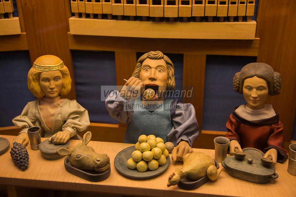 Europe/Allemagne/Bade-Würrtemberg/Forêt Noire/ Gengenbach: Musée: Haus Löwenberg , Musée , Mangeurs de knödel