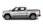 Car Driver side profile view of a 2019 Chevrolet Silverado-1500 RST 4 Door Pick-up Side View