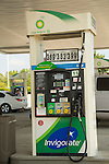 bp gas pump, invigorate convenience station, serve yourself.