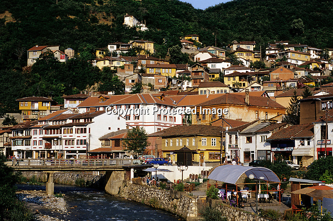 The beautiful city of Pritzren, Kosovo on June 26. 1999 that was mostly unhurt during the Serb terror campaign and NATO bombings in the province in 1999. NATO entered Kosovo in June 1999 and refugees started to come back from Macedonia and Albania. (Photo by: Per-Anders Pettersson)