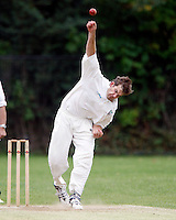 Joel Gregory bowls for Hornsey during the Middlesex County League Division two game between Shepherds Bush and Hornsey at Bromyard Avenue, East Acton on Sat July 23, 2011