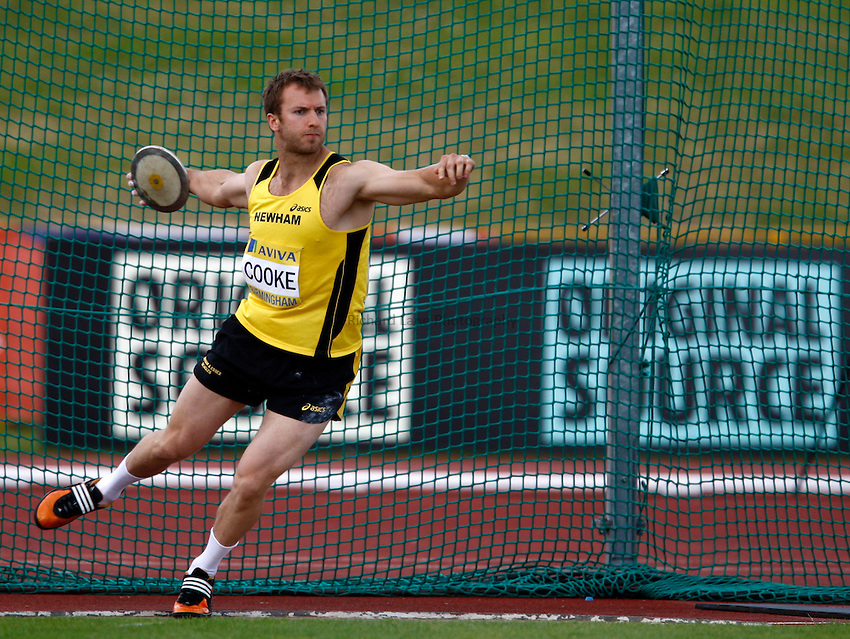 Photo: Richard Lane/Richard Lane Photography..Aviva World Trials & UK Championships athletics. 12/07/2009. Simon Cooke in the men's discus..