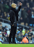 Manchester City Manager Josep Guardiola fist pump during the premier league match at the Etihad Stadium, Manchester. Picture date 16th December 2017. Picture credit should read: Robin ParkerSportimage