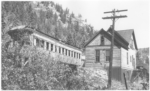View of RGS Vance Junction section house and coach body depot.<br /> RGS  Vance Junction, CO  Taken by Jackson, Richard B.
