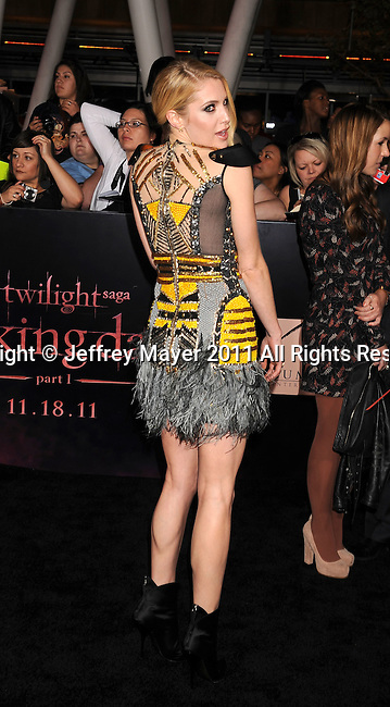 """LOS ANGELES, CA - NOVEMBER 14: Casey LaBow arrives at the Los Angeles premiere of """"The Twilight Saga: Breaking Dawn Part 1"""" held at Nokia Theatre L.A. Live on November 14, 2011 in Los Angeles, California."""