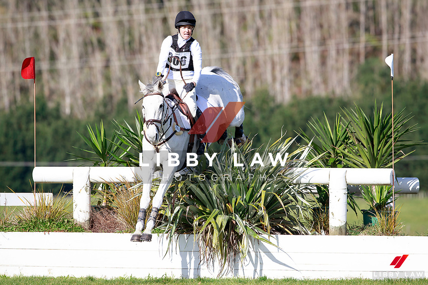 Heelan Tomkins rides Snow Leopard during the NRM CCI3* Championship Cross Country at the 2017 NZL-NRM National Three Day Event Championships. National Equestrian Center, Taupo. Saturday 13 May. Copyright Photo: Libby Law Photography