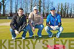 Killarney golfers l-r: Chris Chadler, Darren Coffey and Doug Galbrath enjoying a round of golf in Ross Golf course on Monday