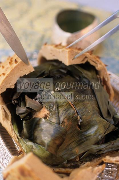 """Asie/Inde/Maharashtra/Bombay: Poulet en croute aux feuilles de bananier - Recette du """"Taj Mahal Bombay"""""""