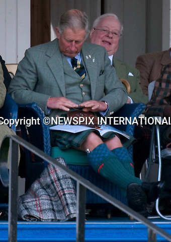 """PRINCE CHARLES,_Sporren.THE QUEEN, DUKE OF EDINBURGH AND PRINCESS ANNE .were also in attendance at The 2009 Braemar Gathering, Braemar, Scotland_05/09/09.Mandatory Credit Photo: ©DIAS-NEWSPIX INTERNATIONAL..Please telephone : +441279324672 for usage fees..**ALL FEES PAYABLE TO: """"NEWSPIX INTERNATIONAL""""**..IMMEDIATE CONFIRMATION OF USAGE REQUIRED:.Newspix International, 31 Chinnery Hill, Bishop's Stortford, ENGLAND CM23 3PS.Tel:+441279 324672  ; Fax: +441279656877.Mobile:  07775681153.e-mail: info@newspixinternational.co.uk"""
