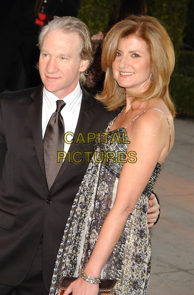 BILL MAHER & ARIANNA HUFFINGTON.Vanity Fair Oscar Party held at Morton's, West Hollywood, California, USA. .March 5th, 2006.Photo: Gary Boas/AdMedia/Capital Pictures.Ref: GB/ADM.half length .www.capitalpictures.com.sales@capitalpictures.com.© Capital Pictures.