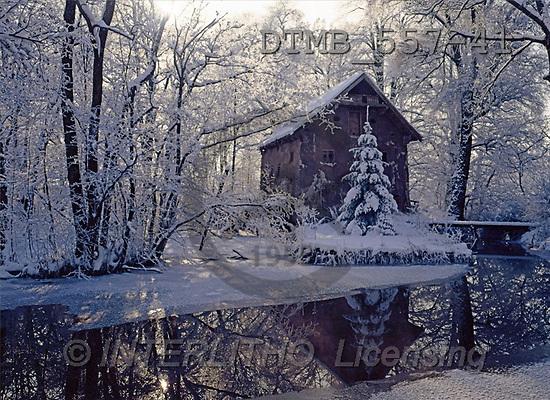 Gerhard, CHRISTMAS LANDSCAPE, photos, Die alte Aum?hle an einem Wintertag(DTMB557-41,#XL#) Landschaften, Weihnachten, paisajes, Navidad