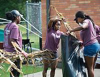 MSU Dawg Daze 2016: Getting Organized at Emerson Family School.<br /> (photo by Russ Houston / &copy;  Mississippi State University)