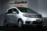 July 8, 2010 - Tokyo, Japan - The new compact multi-wagon Honda Freed Spike is on display during a press preview at the company's headquarters in Tokyo, Japan, on July 8, 2010. The Freed Spike features a compact body size for nimble maneuvring, as spacious high-utility cabin and a cargo area made for an extensive range of uses. Honda said it is aiming to sell 2,500 units per month with starting price of 1,598 million yen (18,300 $US).