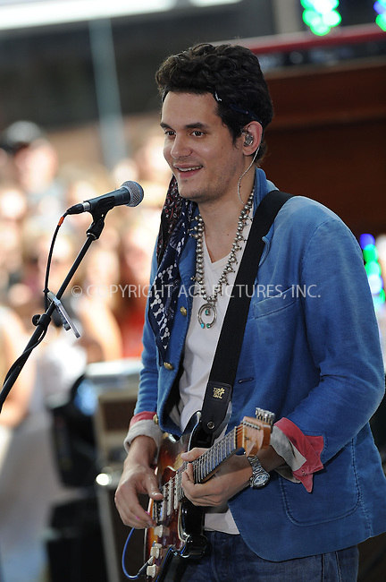 WWW.ACEPIXS.COM . . . . . <br /> July 5, 2013...New York City....John Mayer performing on NBC Today on July 5, 2013 in New York City. ....Please byline: KRISTIN CALLAHAN - WWW.ACEPIXS.COM.. . . . . . ..Ace Pictures, Inc: ..tel: (212) 243 8787 or (646) 769 0430..e-mail: info@acepixs.com..web: http://www.acepixs.com