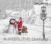 Marcello, CHRISTMAS SANTA, SNOWMAN, WEIHNACHTSMÄNNER, SCHNEEMÄNNER, PAPÁ NOEL, MUÑECOS DE NIEVE, paintings+++++,ITMCXM1423,#X#