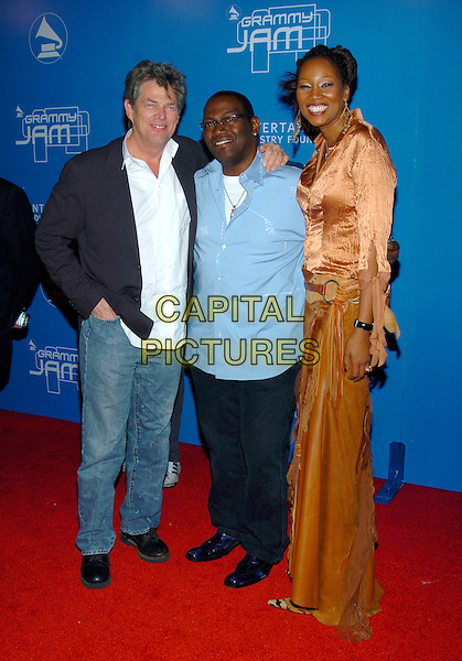 DAVID FOSTER, RANDY JACKSON & YOLANDA ADAMS.2004  Grammy Jam Celebration of the music of Earth, Wind and Fire held at the Wiltern LG Theatre, Los Angeles, California , USA, 11th December 2004 .full length.Ref: ADM.www.capitalpictures.com.sales@capitalpictures.com.©Laura Farr/AdMedia/Capital Pictures .