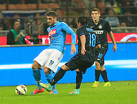 David Lopez  during the Italian serie A   soccer match between SSC Napoli and Inter    at  the San Siro    stadium in Milan  Italy , Octobrr 19 , 2014
