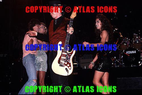 Stevie Ray Vaughan & Jeff Beck : Live: New York City: On November 1, 1989:.Photo Credit: Eddie Malluk/Atlas Icons.com