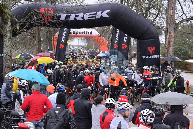 Over 5000 riders entered the 2017 Strade Bianche Gran Fondo by Trek, led off by 3 time winner Fabian Cancellara (SUI) and his Trek-Segafredo team mates also former pros Johann Museuuw, Ivan Basso, Andrea Tafi, Alessandro Ballan, and Alessandra Cappellotto, accompanied by RCS Sport Managing Director, Paolo Bellino and the Mayor of Siena, Bruno Valentini and the Head of Sport, Leonardo Tafani at the start from Siena to Siena, Tuscany, Italy 5th March 2017.<br /> Picture: La Presse/Gian Mattia D'Alberto | Newsfile<br /> <br /> <br /> All photos usage must carry mandatory copyright credit (&copy; Newsfile | La Presse)