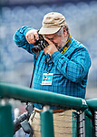 3 April 2017: Washington Post Photographer John McDonnell makes some pre-game images prior to the start of play between the Washington Nationals and the Miami Marlins on Opening Day at Nationals Park in Washington, DC. The Nationals defeated the Marlins 4-2 to open the 2017 MLB Season. Mandatory Credit: Ed Wolfstein Photo *** RAW (NEF) Image File Available ***