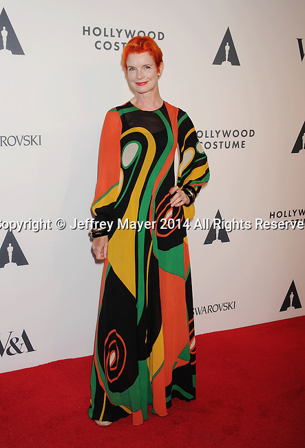 LOS ANGELES, CA- OCTOBER 01: Costume designer Sandy Powell attends The Academy of Motion Picture Arts and Sciences' Hollywood Costume Opening Party at the Wilshire May Company Building on October 1, 2014 in Los Angeles, California.