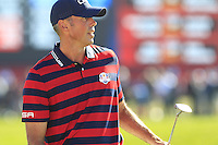 Matt Kucher (Team USA) on the 9th green during Saturday afternoon Fourball at the Ryder Cup, Hazeltine National Golf Club, Chaska, Minnesota, USA.  01/10/2016<br /> Picture: Golffile | Fran Caffrey<br /> <br /> <br /> All photo usage must carry mandatory copyright credit (&copy; Golffile | Fran Caffrey)