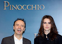 Roberto Benigni as Mister Geppetto, Marine Vacth as The Fairy with Turquoise Hair <br /> Rome December 12th 2019. Pinocchio Photocall in Rome<br /> Foto Samantha Zucchi Insidefoto