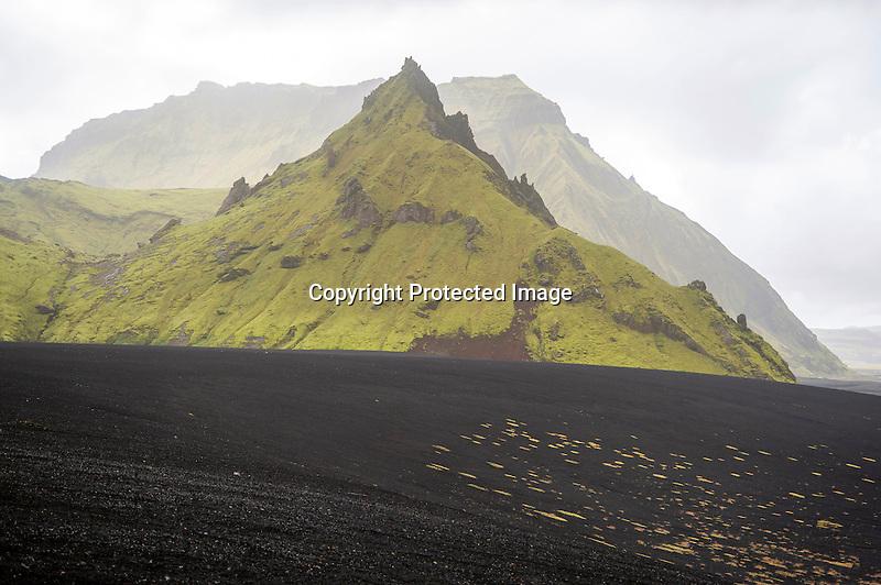 Katla Volcano Peaks Iceland