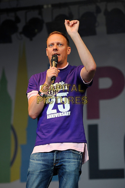 LONDON, UK, JUNE 28: Antony Cotton performs live on stage at Pride London in Trafalgar Square on June 28th 2014 in London, England, UK.<br /> CAP/MAR<br /> &copy; Martin Harris/Capital Pictures