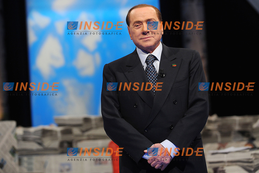 Silvio Berlusconi<br /> Milano 09-05-2014 - trasmissione Tv 'Iceberg' Telelombardia <br /> foto Andrea Ninni/Image/Insidefoto