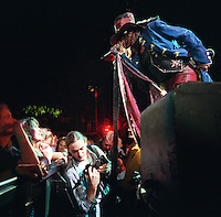 Aerosmith at the Delta Center. Daily Herald photographer Mark Lester, below.