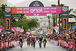 Maglia Ciclamino Elia Viviani (ITA) Quick-Step Floors wins Stage 3 of the 101st edition of the Giro d'Italia 2018 running 229km flat stage from Be'er Sheva to Eilat is the last in Israel. 6th May 2018.<br /> Picture: LaPresse/Gian Mattia D'Alberto | Cyclefile<br /> <br /> <br /> All photos usage must carry mandatory copyright credit (&copy; Cyclefile | LaPresse/Gian Mattia D'Alberto)