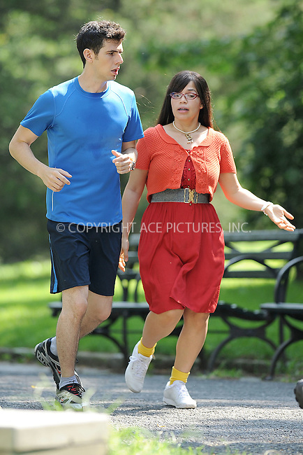 WWW.ACEPIXS.COM . . . . . .August 5 2009, New York City....Actor Daniel Eric Gold and actress America Ferrera on the set of Ugly Betty August 5 2009 in New York City....Please byline: KRISTIN CALLAHAN - ACEPIXS.COM.. . . . . . ..Ace Pictures, Inc: ..tel: (212) 243 8787 or (646) 769 0430..e-mail: info@acepixs.com..web: http://www.acepixs.com .