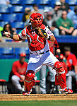 4 March 2012: Washington Nationals catcher Wilson Ramos in action against the Houston Astros at Space Coast Stadium in Viera, Florida. The Astros defeated the Nationals 10-2 in Grapefruit League action. Mandatory Credit: Ed Wolfstein Photo