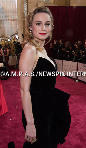 26.02.2017; Hollywood, USA: BRIE LARSON<br /> attends The 89th Annual Academy Awards at the Dolby&reg; Theatre in Hollywood.<br /> Mandatory Photo Credit: &copy;AMPAS/NEWSPIX INTERNATIONAL<br /> <br /> IMMEDIATE CONFIRMATION OF USAGE REQUIRED:<br /> Newspix International, 31 Chinnery Hill, Bishop's Stortford, ENGLAND CM23 3PS<br /> Tel:+441279 324672  ; Fax: +441279656877<br /> Mobile:  07775681153<br /> e-mail: info@newspixinternational.co.uk<br /> Usage Implies Acceptance of Our Terms &amp; Conditions<br /> Please refer to usage terms. All Fees Payable To Newspix International