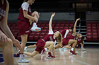 Dallas, TX - March 29, 2017: The Stanford Cardinal prepares for the Final Four 2017 in Dallas, Texas