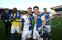 Blackburn Rovers' Adam Armstrong and Blackburn Rovers' Lewis Travis <br /> <br /> Photographer Rachel Holborn/CameraSport<br /> <br /> The EFL Sky Bet League One - Blackburn Rovers v Oxford United - Saturday 5th May 2018 - Ewood Park - Blackburn<br /> <br /> World Copyright &copy; 2018 CameraSport. All rights reserved. 43 Linden Ave. Countesthorpe. Leicester. England. LE8 5PG - Tel: +44 (0) 116 277 4147 - admin@camerasport.com - www.camerasport.com