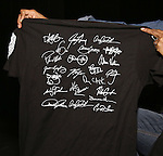 Cast members of 'The Color Purple' host a meet and greet with t-shirts for the kids from PAL at The Jacobs Theatre on December 7, 2016 in New York City.