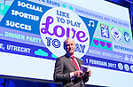 UTRECHT - Nationaal Golf Congres en Beurs 2017. NVG  motto: Like to Play & Love to stay. NVG voorzitter Tinus Vernooij. FOTO © Koen Suyk
